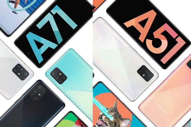 Samsung galaxy A51 and A71