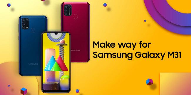 Samsung Galaxy M31 teaser
