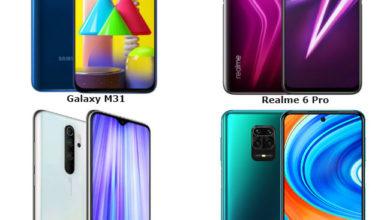 Samsung Xiaomi Realme compare