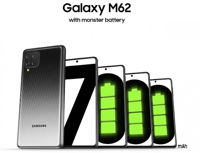 Samsung Galaxy M62 teaser