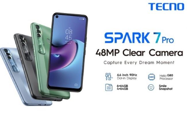 Tecno Spark 7 Pro teaser